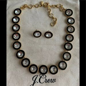 J crew Crystal Statement necklace earrings set